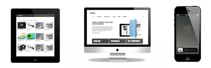 マルチデバイス対応のサイトを制作するイメージ画像