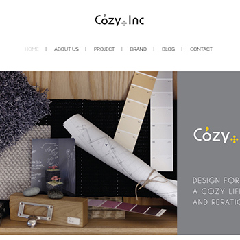 サイト制作実績、Cozy Plus Incorporate