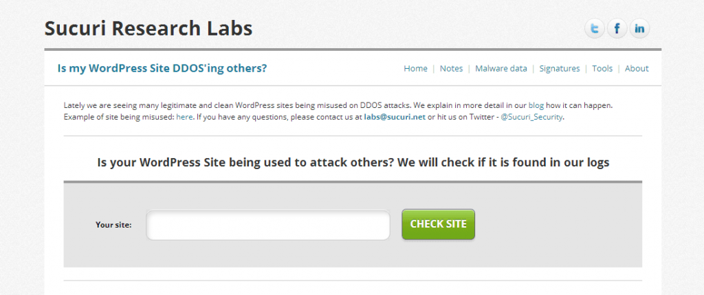 Sucuri Research LabsSucuri Is my WordPress Site DDOS'ing others?