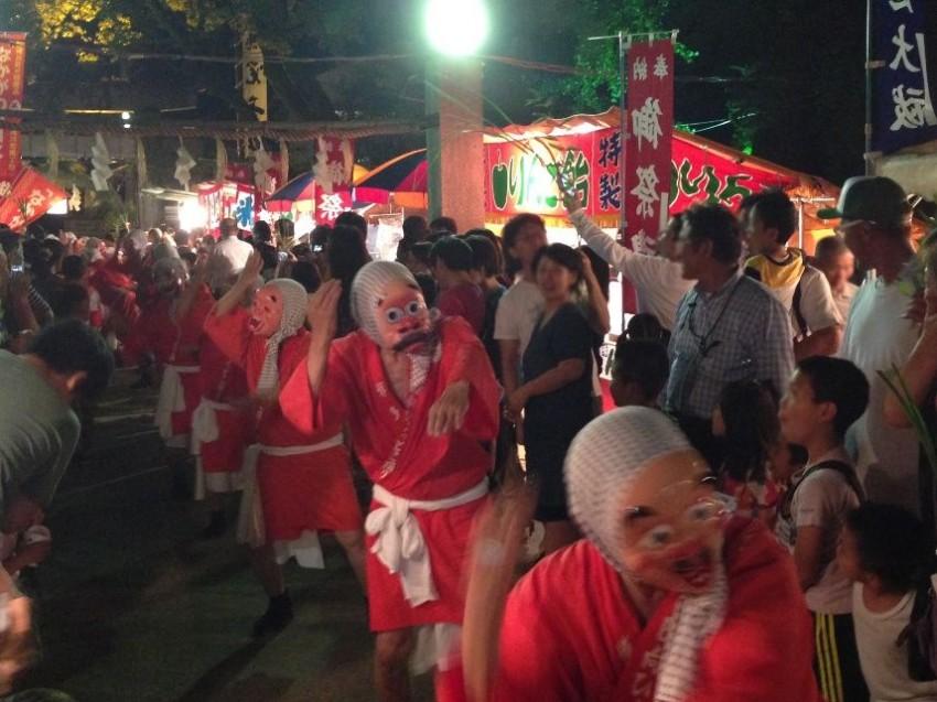 現人神社の夏越祭ひょっとこ