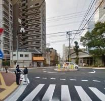 話題のラウンドアバウトですが、福岡にも清川ロータリーと呼ばれるラウンドアバウトがあります。