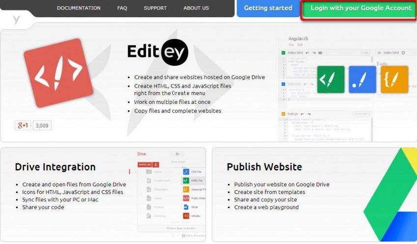 EditeyとGoogleアカウントを連携