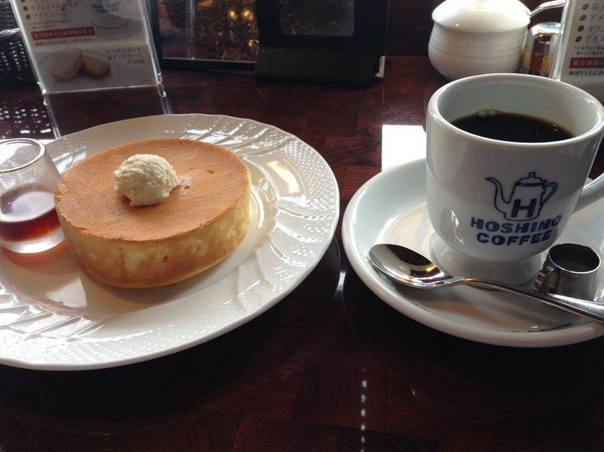 窯焼きスフレパンケーキと星乃ブレンド