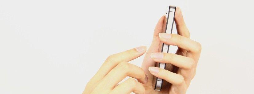スマートフォン操作のイメージ