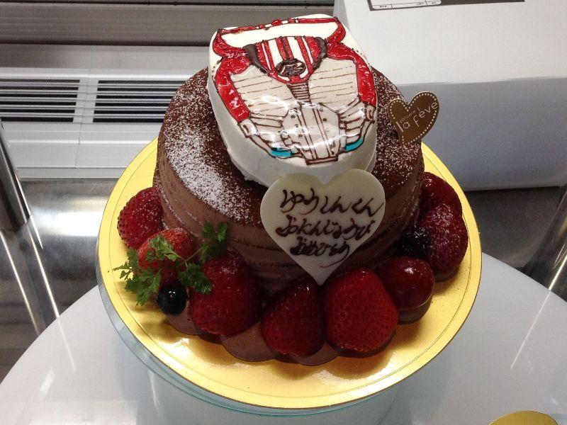仮面ライダードライブのケーキ