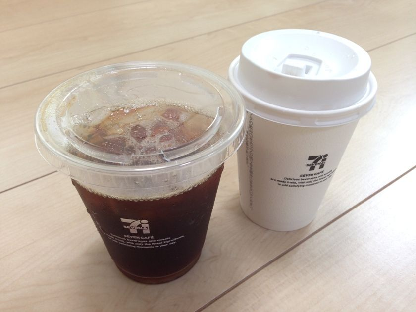 sevencafeのホットとアイス