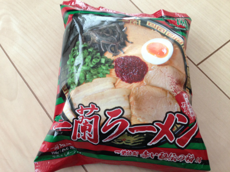 袋麺「一蘭ラーメン」