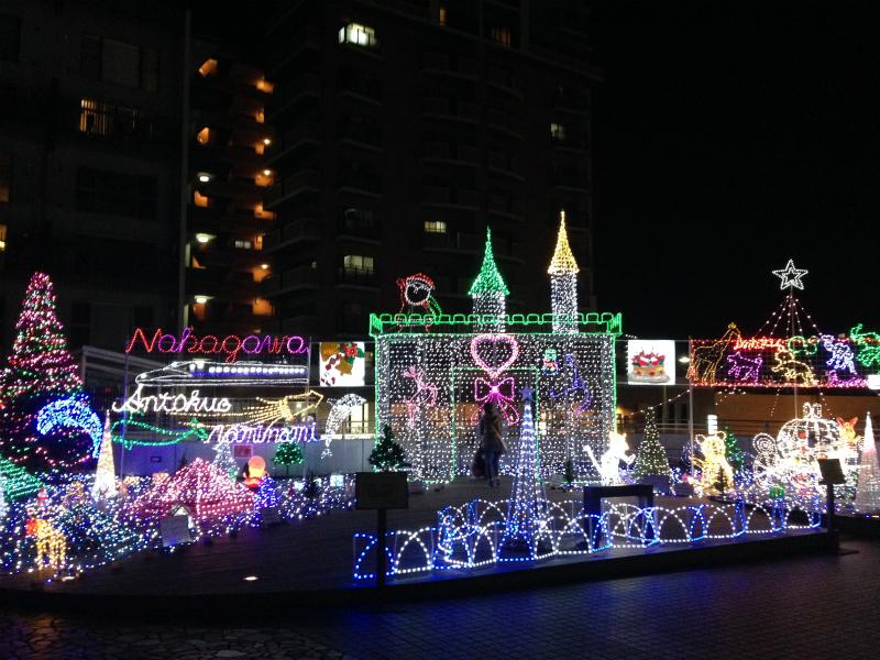 博多南駅前公園のイルミネーション
