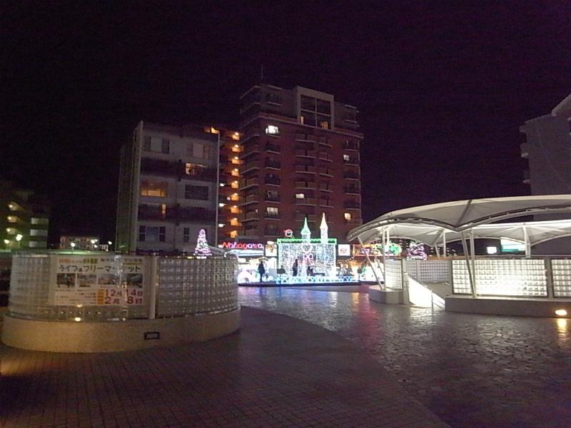 JR博多南駅前のイルミネーション