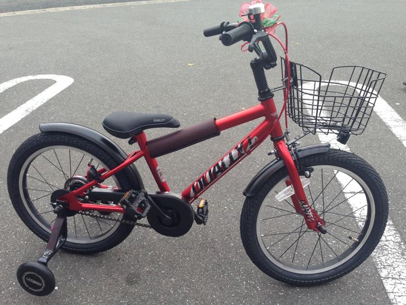 クリスマスプレゼントの自転車