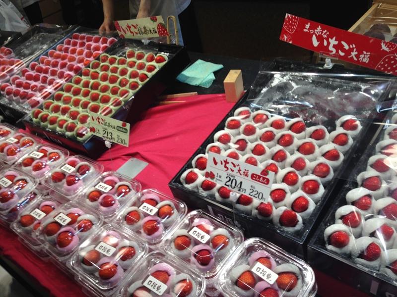 和菓子が並んでいる写真