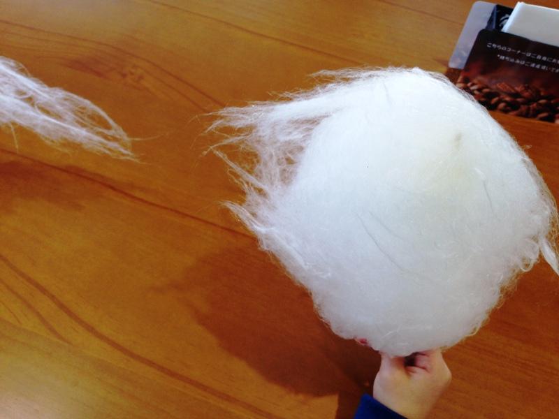 大地のめぐみの綿菓子