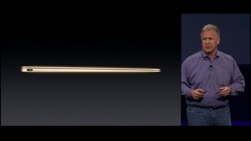 新型MacBookが薄くて軽い