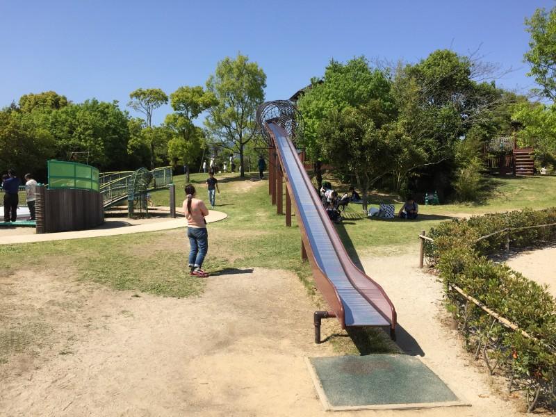 吉野ケ里公園のローラー滑り台