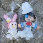 中ノ島公園で怪盗キッドとマイメロディのバルーンアートを作ってもらいました。