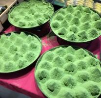 口福堂の京都宇治抹茶「きなこおはぎ」のビジュアルが美しい