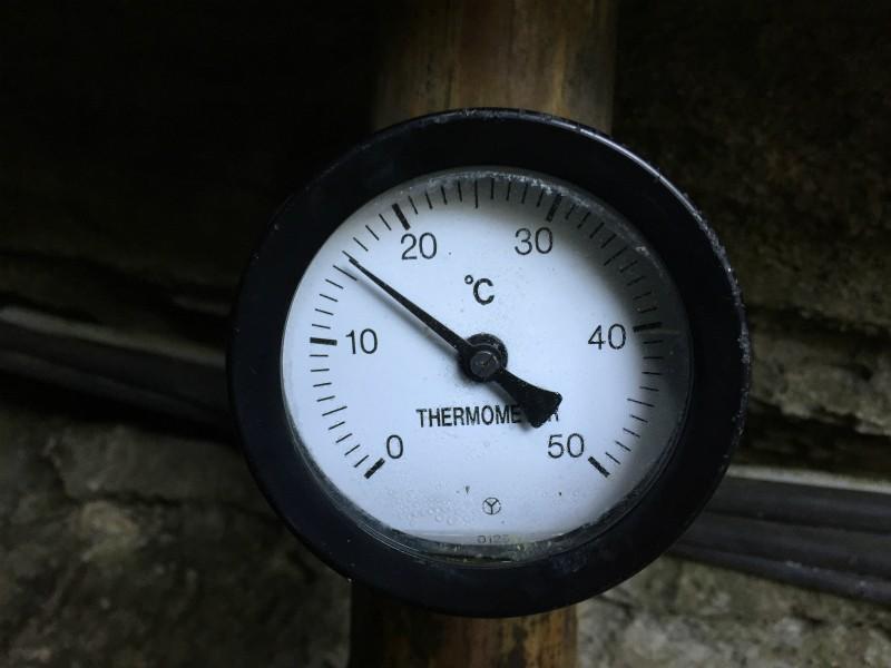 七ツ釜鍾乳洞の気温