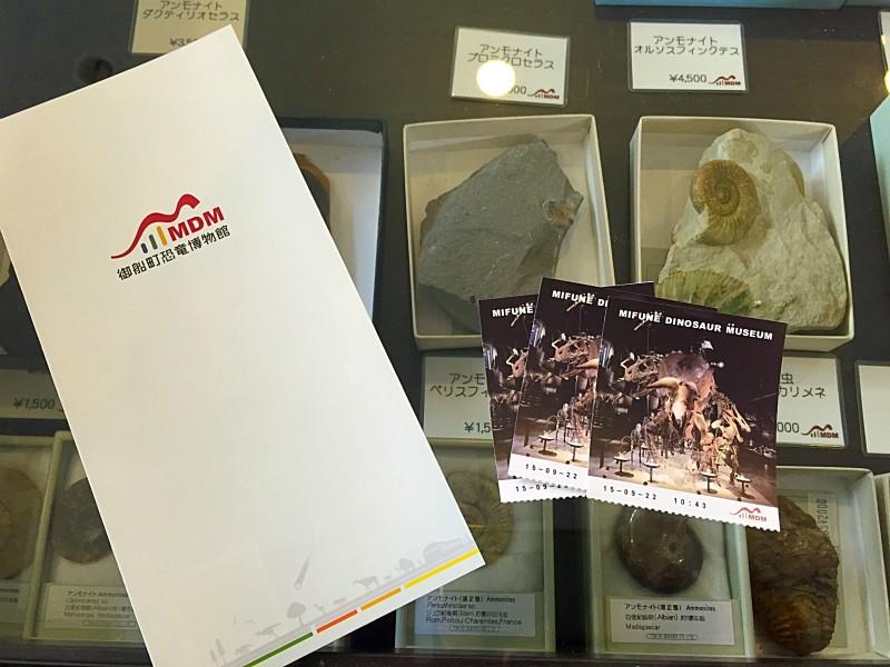 御船町恐竜博物館のチケット