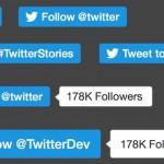 11月20日に変更されたTwitterボタンのデザイン。ツイート数が消えてレイアウト崩れ対応に涙目。