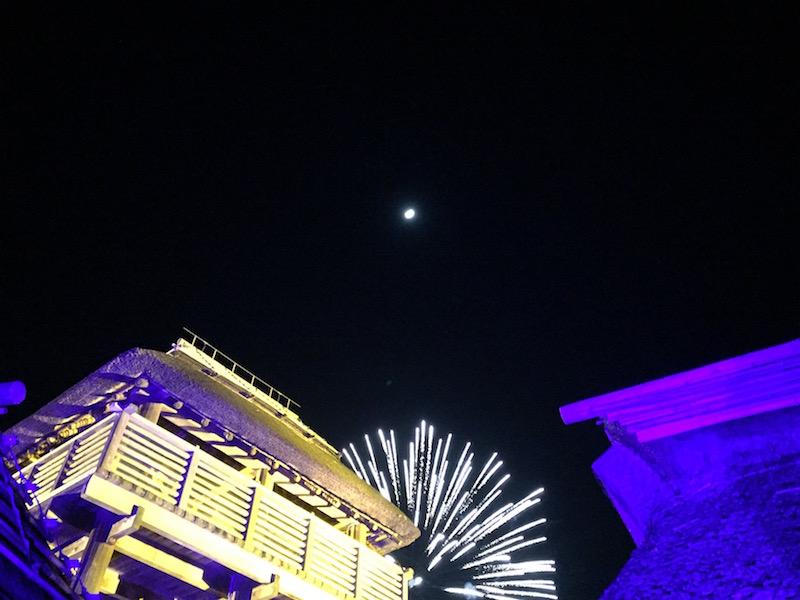 ライトアップイベント「吉野ヶ里 光の響」