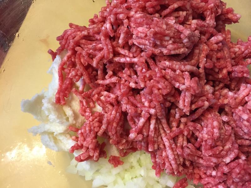 ひき肉追加