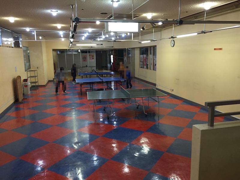 広い卓球場