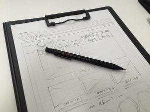 [WEBデザイン] 手書きのワイヤーフレームを書く時にオススメの筆記具。