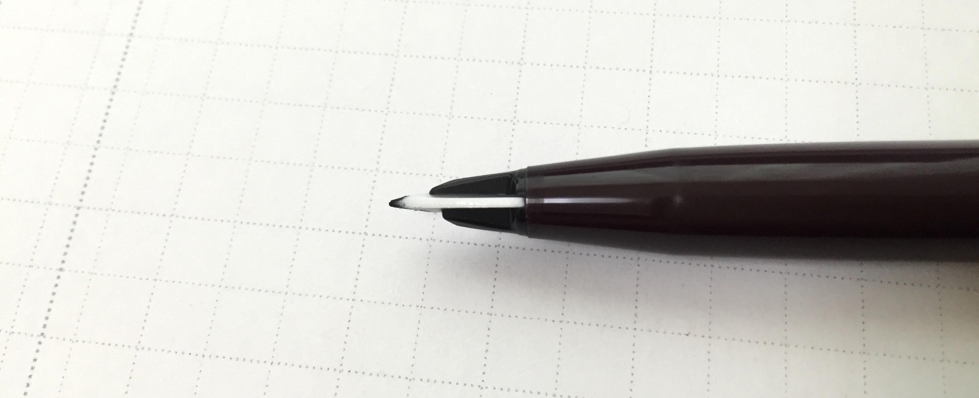 ペン先が万年筆のような形