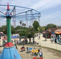 [佐賀市-神野公園] こども遊園地のフリーパスでミニジェットコースター三昧