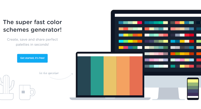 Coolors.co   The super fast color schemes generator