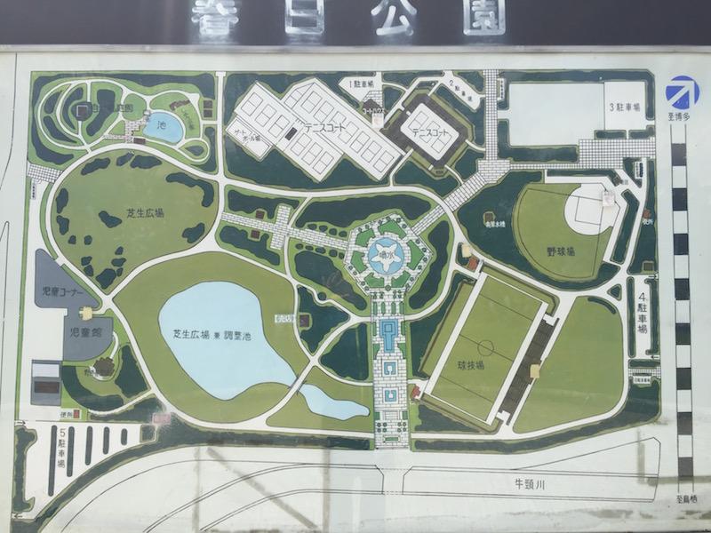 春日公園全体マップ