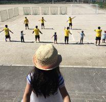 那珂川町の健康スポーツフェスタ「ドッジボール教室&ハンドボール体験会」に行ってきました。