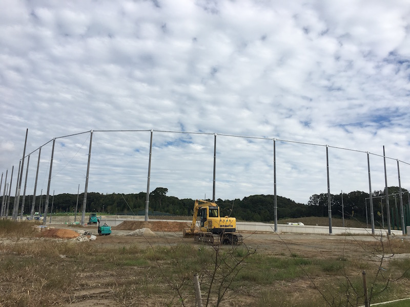建設中の野球場