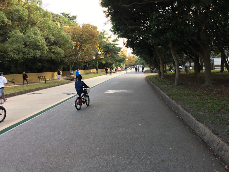 息子自転車