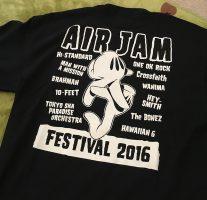 『AIR JAM 2016』オフィシャルグッズのTシャツが届いた!今回は会場での販売がないようなのでご注意を。