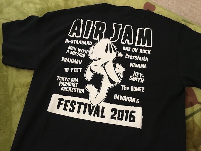 air jam2016のTシャツ