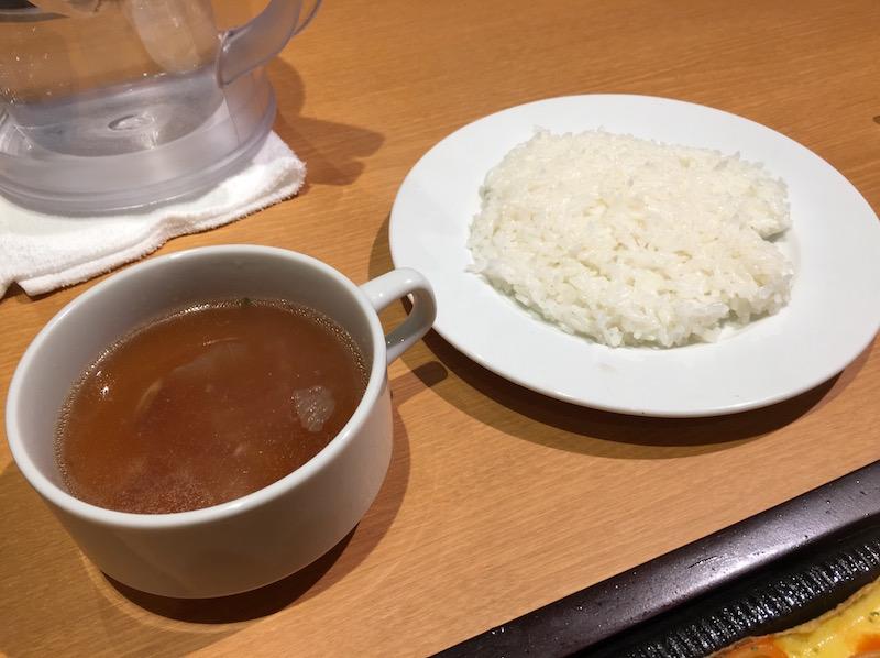 ライスとスープ