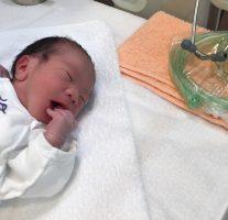 第三子が無事誕生。危うく車中出産になるところでヒヤヒヤしました。