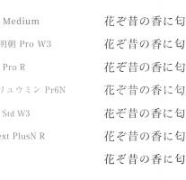 Adobeからリリースされた「源ノ明朝」フォントがバランスが良くて美しい。